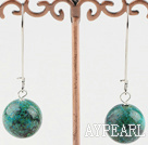 simple 16mm boucles d'oreilles en pierre phoenix