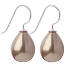 Classic Design Drop Shape Golden Color Seashell Beads Earrings