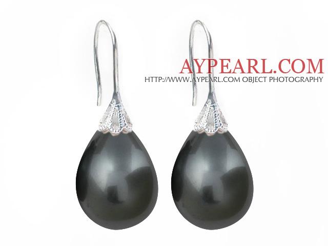 graue perlen ohrringe