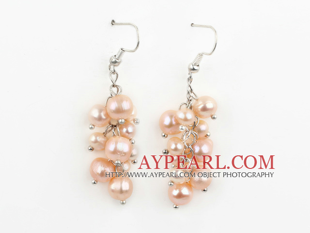 Dangle Style Natural Pink makeanveden helmen korvakoruja