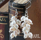 Wholesale Rice Shape Natural White Freshwater Pearl Earrings
