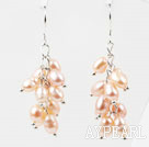 Wholesale Rice Shape Natural Pink Freshwater Pearl Earrings
