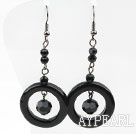 Wholesale Assorted Black Agate Donut Earrings