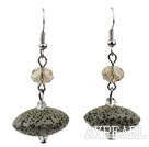 Wholesale UFO Shaped Volcanic Stone Earrings