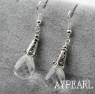 Drop Shape Clear Crystal Earrings