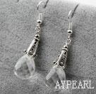Wholesale Drop Shape Clear Crystal Earrings
