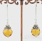 Wholesale 14mm Swiss citrine fashion earrings
