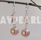 Wholesale natual pink pearl and sea shell beads pearl earings