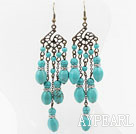 Long and Big Style Assorted Turquoise Earrings