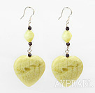 garnet and lemon stone earrings