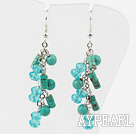 New Design Assorted Turquoise and Green Crystal Fashion Earrings