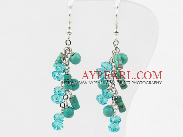 Crystal Earrings on New Design Assorted Turquoise And Green Crystal Fashion Earrings
