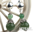Wholesale New Design Aventurine Dangle Clip Earrings