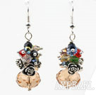 Wholesale Assorted Multi Color and Amber Color Manmade Crystal Earrings