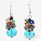 Wholesale Assorted Multi Color and Lake Blue Color Manmade Crystal Earrings