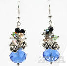 Wholesale Assorted Multi Color and Blue Color Manmade Crystal Earrings