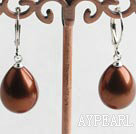 Wholesale sea shell pear shape earrings