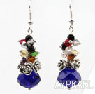 Wholesale Assorted Multi Color and Dark Blue Color Manmade Crystal Earrings