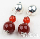 Wholesale New Design Carnelian Agate Clip Earrings