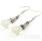 Classic Design Milky Color Drop Shape Faceted Crystal Earrings