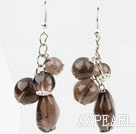 Paires de style assorties Smoky Quartz Boucles d'oreilles