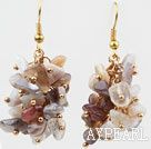 Cluster Style Persian Gray Agate Earrings