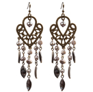 Wholesale Dangle Style Three Color Manmade Crystal Earrings