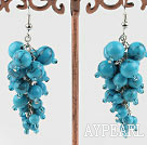 4-8mm turquoise ball earrings