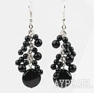 Wholesale Black Series Assorted Black Agate Earrings