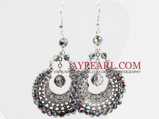 Gorgeous Style Big Drop Shape Multi Color Crystal Earrings