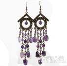 Wholesale Vintage Style Assorted Amethyst Long Earrings