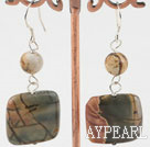 pattern agate earrings