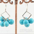 Wholesale 8mm round turquoise earrings