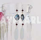 Wholesale garnet abalone white poecelain earrings