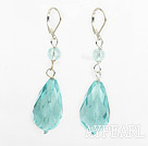 Wholesale New Design Drop Shape Light Blue Crystal Earrings