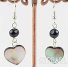 Wholesale black pearl lip shell earrings