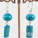 Wholesale blue spinder stone earrings
