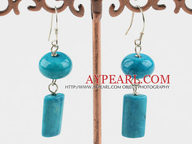 blue spinder stone earrings