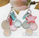 Assorted Crystal and Multi Shell Earrings