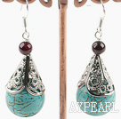 Wholesale turquoise and garnet earrings