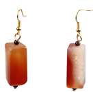 Wholesale Simple Fashion Cuboid Shape Crystallized Agate Dangle Earrings