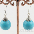 Wholesale 12mm turquoise earrings