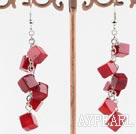 Wholesale 6mm coral earrings