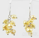 Dyed Yellow Freshwater Pearl Earrings