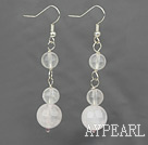 Boucles d'oreilles en quartz rose dangle