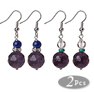Square Shape Black Colored Glaze Earrings