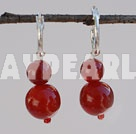 Wholesale 8-12mm red carnelian beaded earrings
