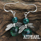 Charm Stil Phoenix Stone Earrings mit Wing Zubehör