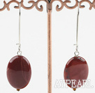 10*20mm silver leaf agate earrings