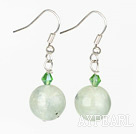 Wholesale crystal and green rutilated quartz earrings